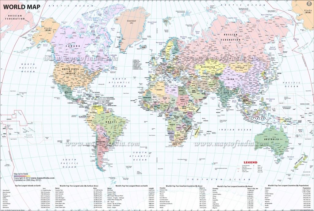 Large World Map Image - Large Printable World Map