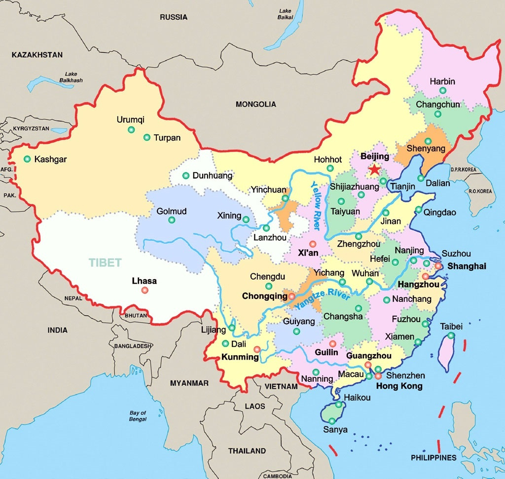 Largest Selection Of Tibet Maps 2019/2020 | Useful Tibet Travel Maps - Free Printable Map Of China