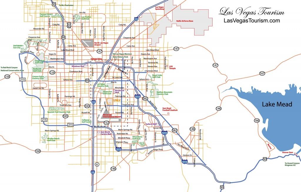 Las Vegas Map, Official Site - Las Vegas City Map - Las Vegas Tourist Map Printable