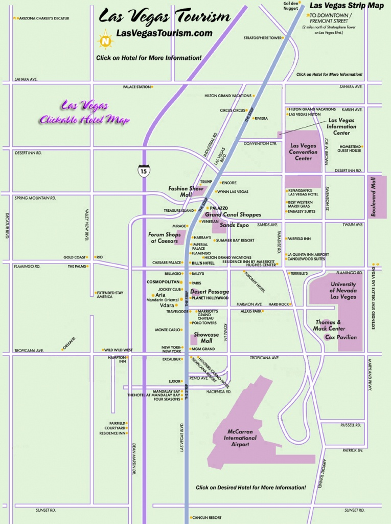 Las Vegas Map, Official Site - Las Vegas Strip Map - Printable Las Vegas Strip Map 2016