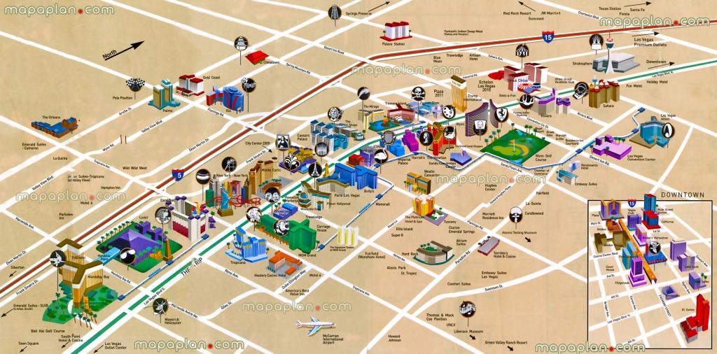 Las Vegas Maps - Top Tourist Attractions - Free, Printable City - Map Of Las Vegas Strip 2014 Printable