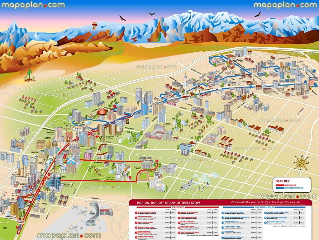 Las Vegas Maps - Top Tourist Attractions - Free, Printable City - Printable Map Of Downtown Las Vegas