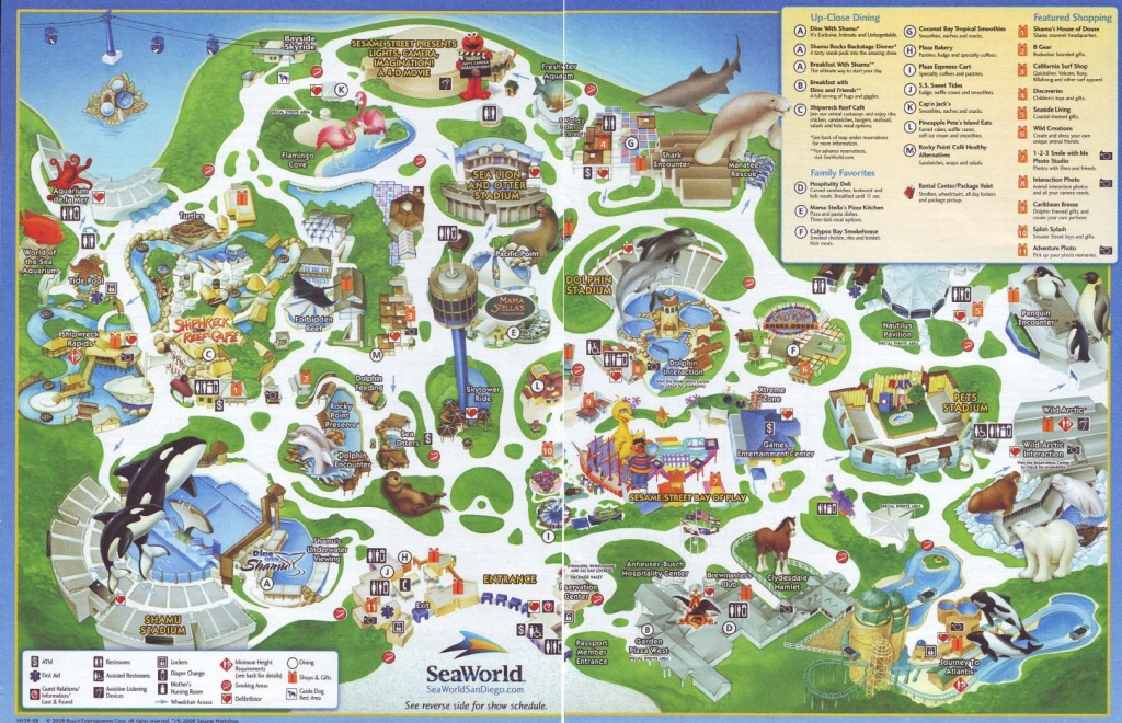 Latest Cb 20120603215102 Sea World Map 9 - World Wide Maps - Printable Map Of Seaworld San Antonio