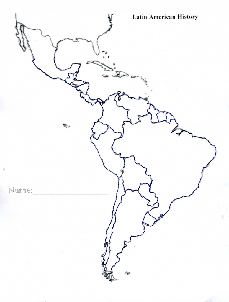 Latin America Map Blank Save Btsa Co Within Of North And South With - Blank Map Of Latin America Printable