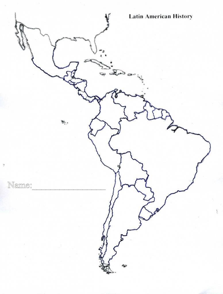 Latin America Map Quiz Printable Blank Of Us And South Central 7 - Central America Map Quiz Printable