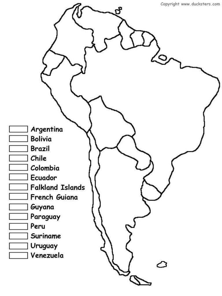 Latin America Map Study Central America Geography Quiz United States - Latin America Map Quiz Printable