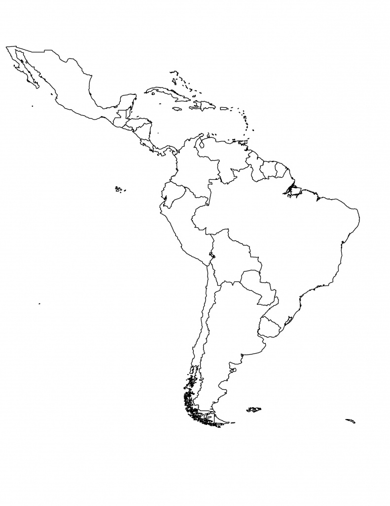 Latin America Printable Blank Map South Brazil At New Of Jdj In With - Blank Map Of Central And South America Printable