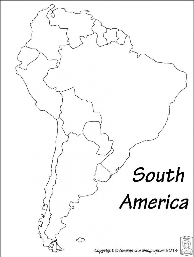Latin America Printable Blank Map South Brazil Maps Of Within And - Blank Map Of Central And South America Printable