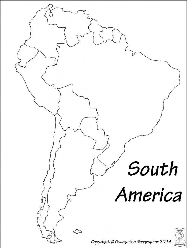 Latin America Printable Blank Map South Brazil Maps Of Within And - Blank Map Of Latin America Printable
