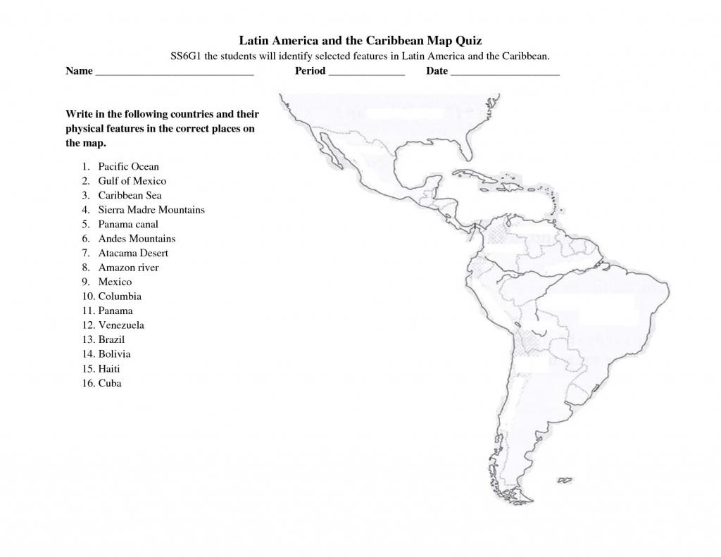 Latin America Printable Blank Map South Brazil The And Best Of Quiz - Latin America Map Quiz Printable