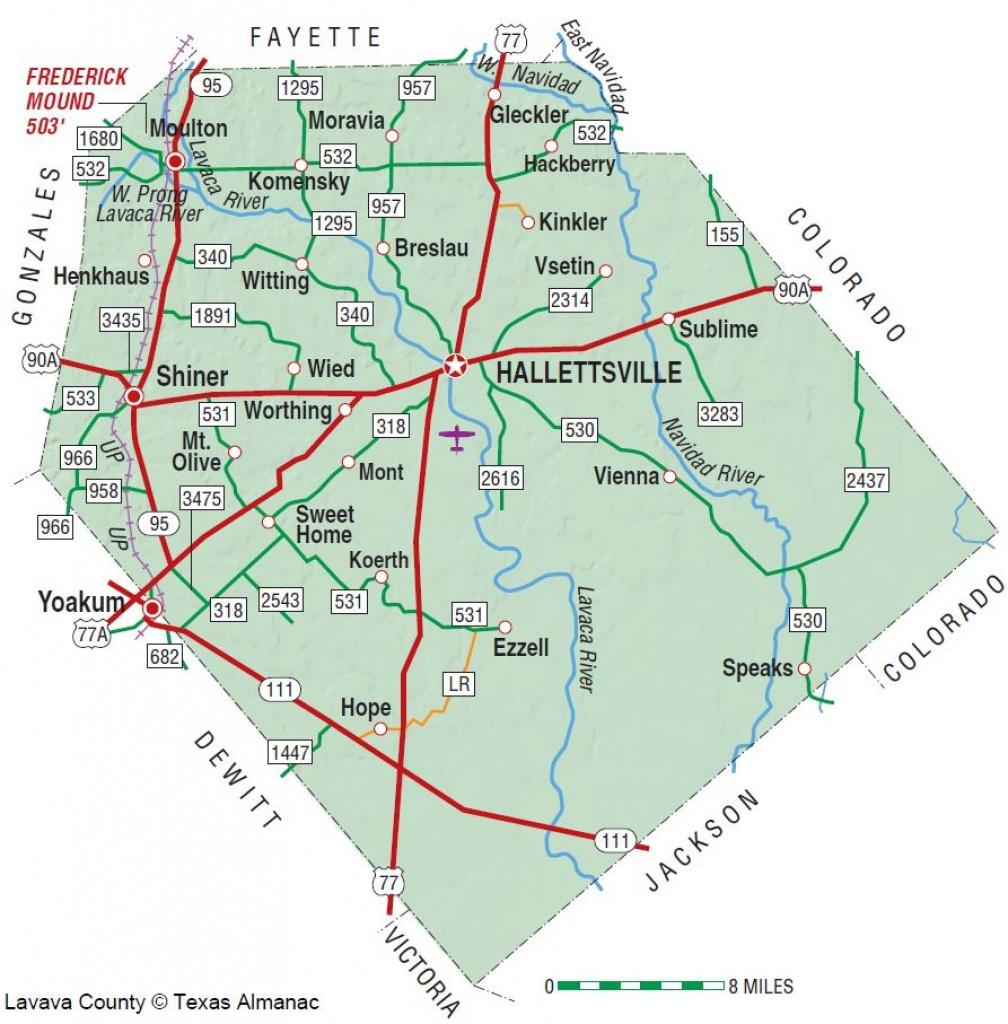 Lavaca County | The Handbook Of Texas Online| Texas State Historical - Yoakum County Texas Map