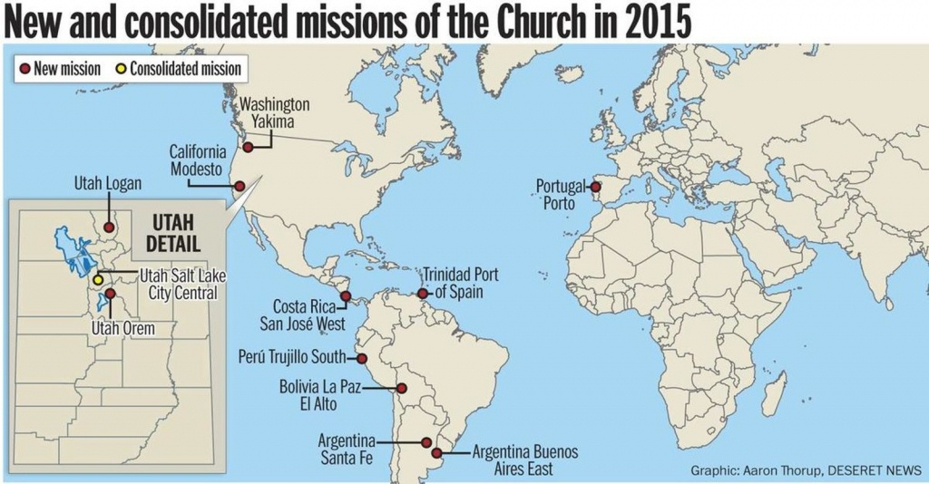 Lds Church Announces 11 New Missions, 2015 Mission President - California Lds Missions Map