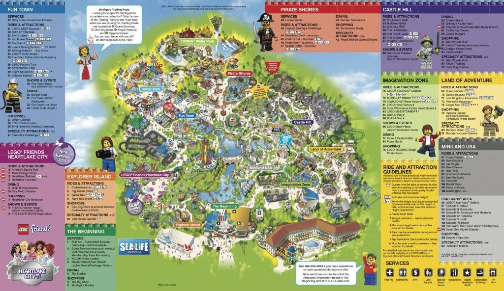 Legoland California & Sea Life Aquarium 1-Day Hopper Ticket - Free - Legoland Map California Pdf