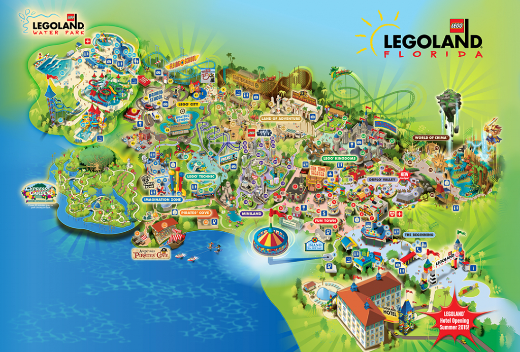 Legoland® Florida Is A 150-Acre Interactive Theme Park With More - Legoland Florida Park Map