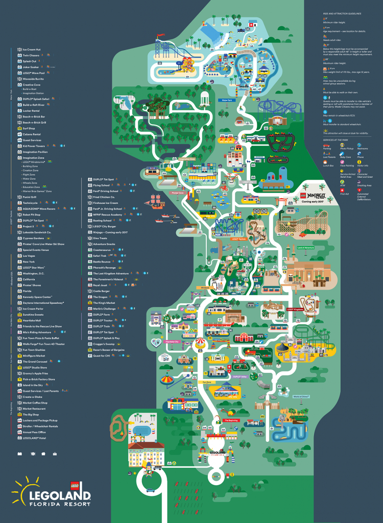 Legoland Florida Map 2016 On Behance - Legoland Florida Map