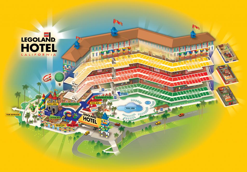 Legoland Hotel, California On Behance - California Hotel Map