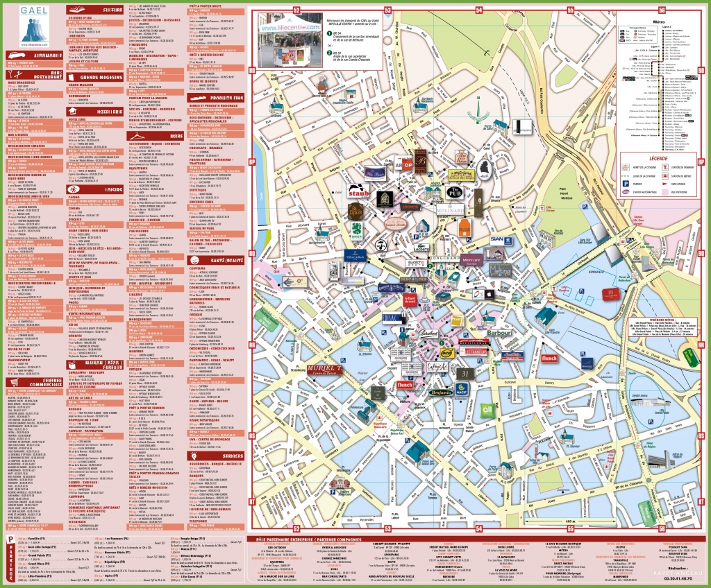 Lille Shopping Map - Printable Map Of Lille City Centre