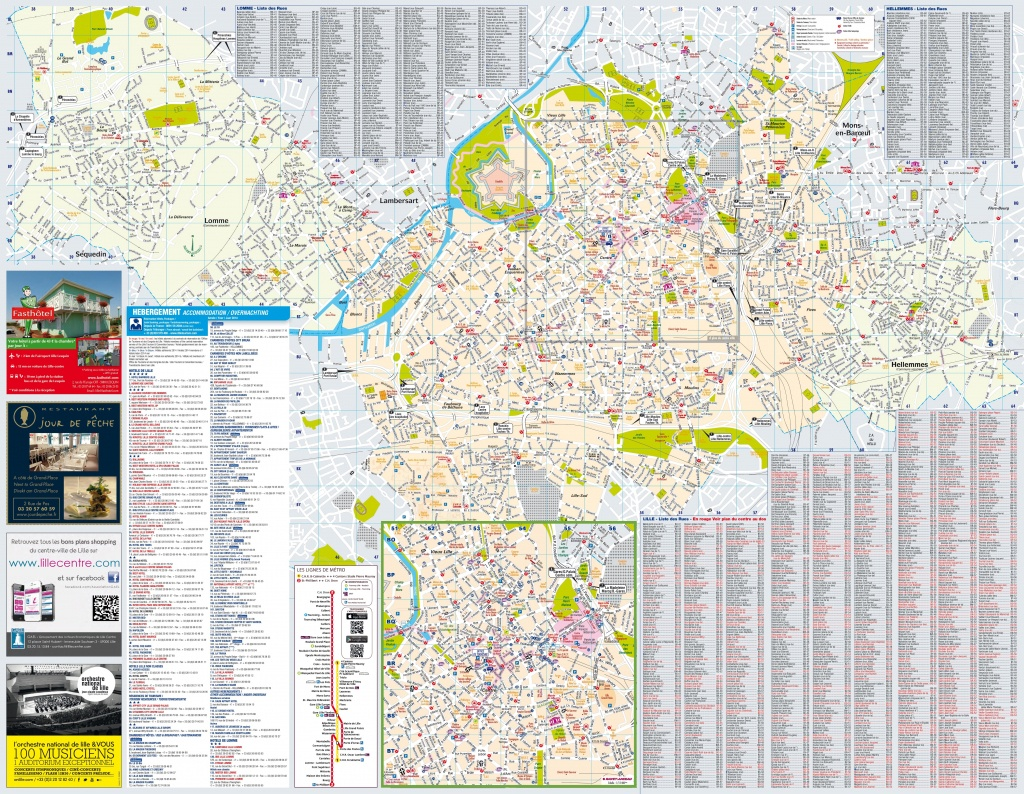 Lille Tourist Map - Printable Map Of Lille City Centre