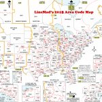 Lincmad's 2019 Area Code Map With Time Zones   Printable Us Map With Time Zones And Area Codes