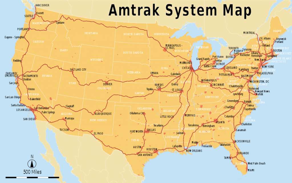 List Of Amtrak Routes - Wikipedia - Amtrak California Coast Map