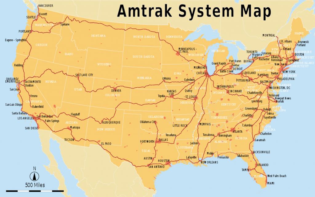 List Of Amtrak Routes - Wikipedia - Amtrak Map California