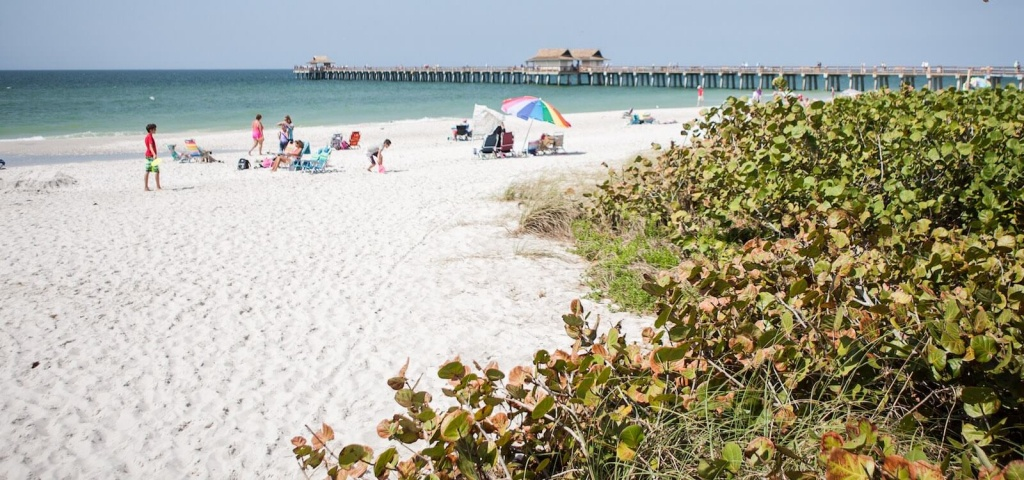 List Of Best Naples & Marco Florida Beaches | Must Do Visitor Guides - Vanderbilt Beach Florida Map