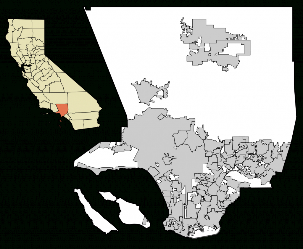 List Of Cities In Los Angeles County, California - Wikipedia - Map Of Los Angeles California Area