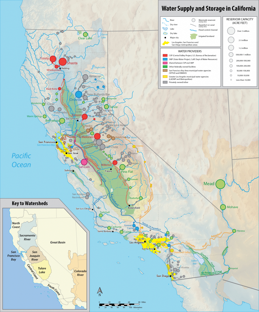 List Of Largest Reservoirs Of California - Wikipedia - California Delta Map Download