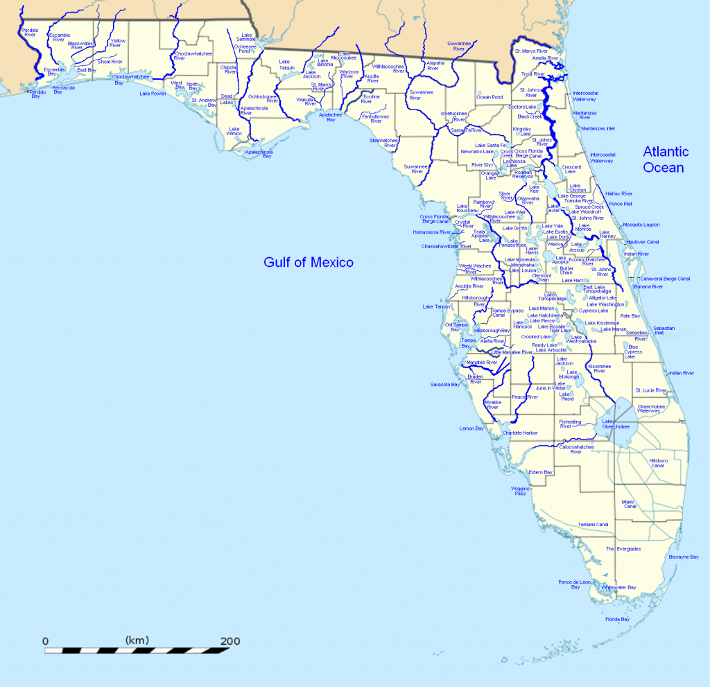 List Of Outstanding Florida Waters - Wikipedia - Carrabelle Florida Map
