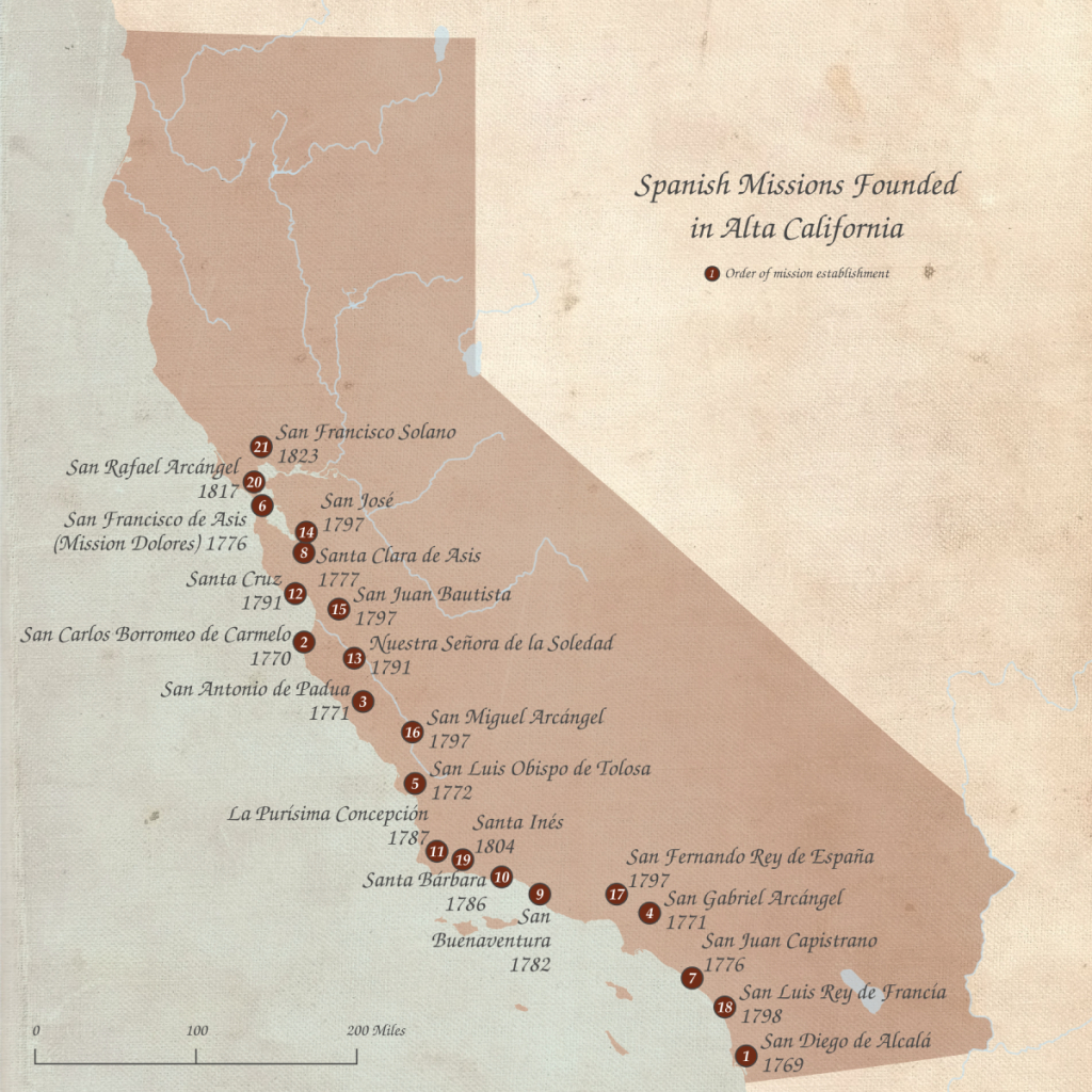 List Of Spanish Missions In California - Wikipedia - California Missions Map