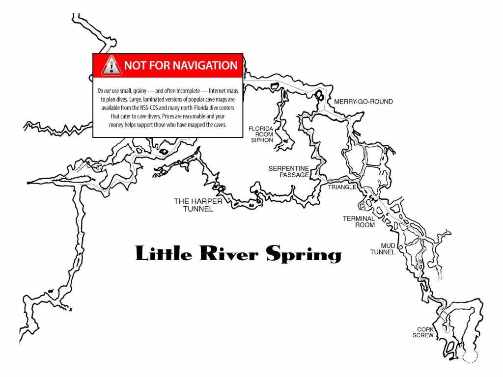 Little River - The Cave Diving Website - Florida Springs Diving Map