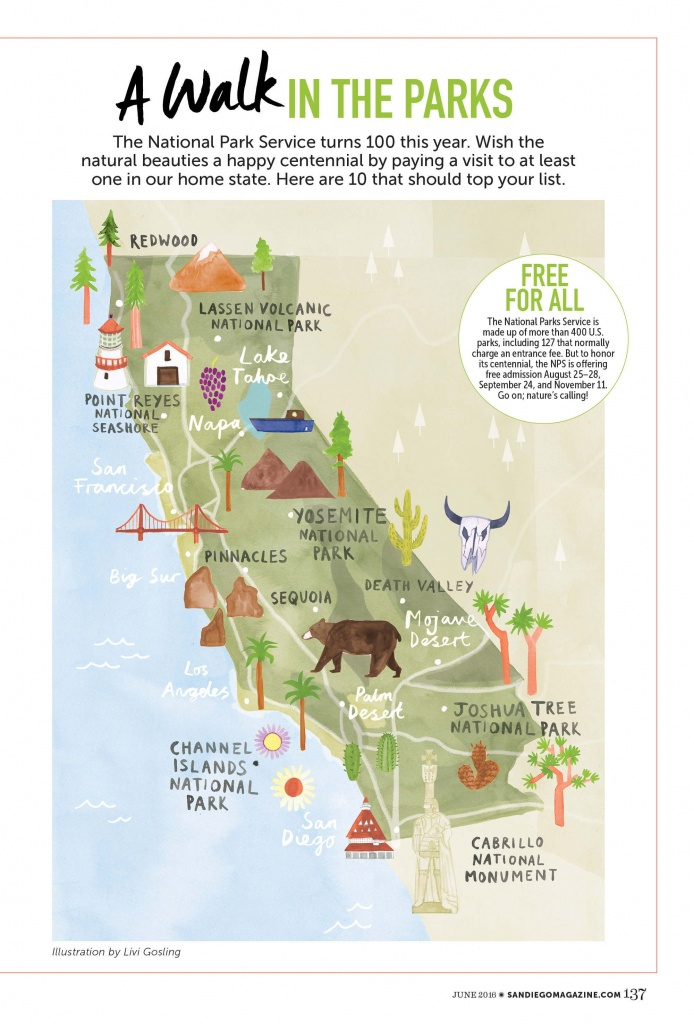 Livi Gosling - Map Of California National Parks | I'll Go Anywhere - Map Of California Parks