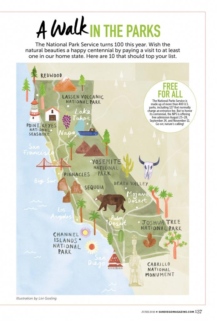 Livi Gosling - Map Of California National Parks | I'll Go Anywhere - Northern California National Parks Map