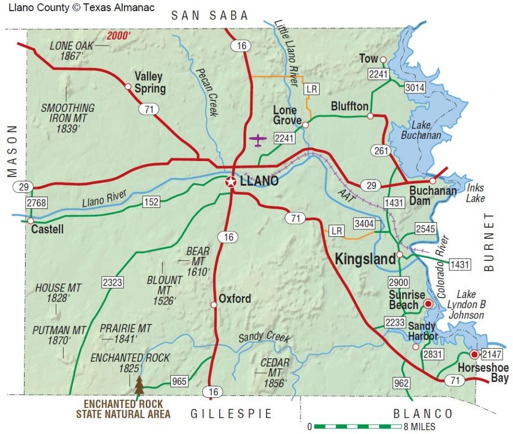 Llano County   The Handbook Of Texas Online  Texas State Historical - Llano Texas Map