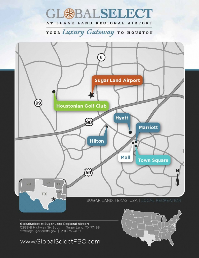 Local Area Map | Sugar Land Regional Airport - Houston Texas Map Airports