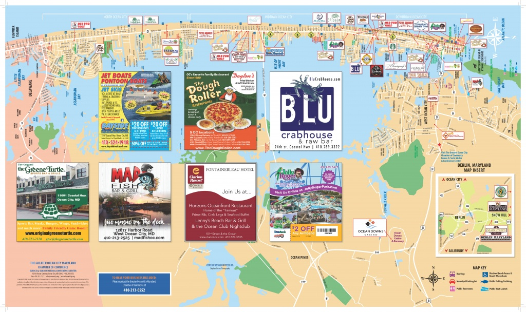 Local Maps | Ocean City Md Chamber Of Commerce - Printable City Maps