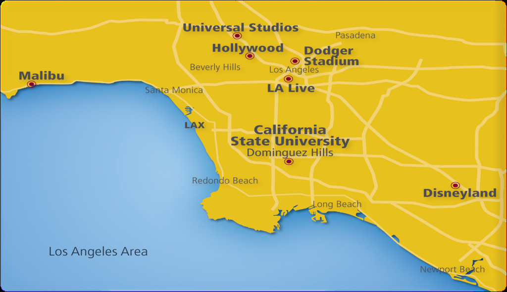 Location And Climate | Csudh Ceie International | Carson, Ca - Carson California Map