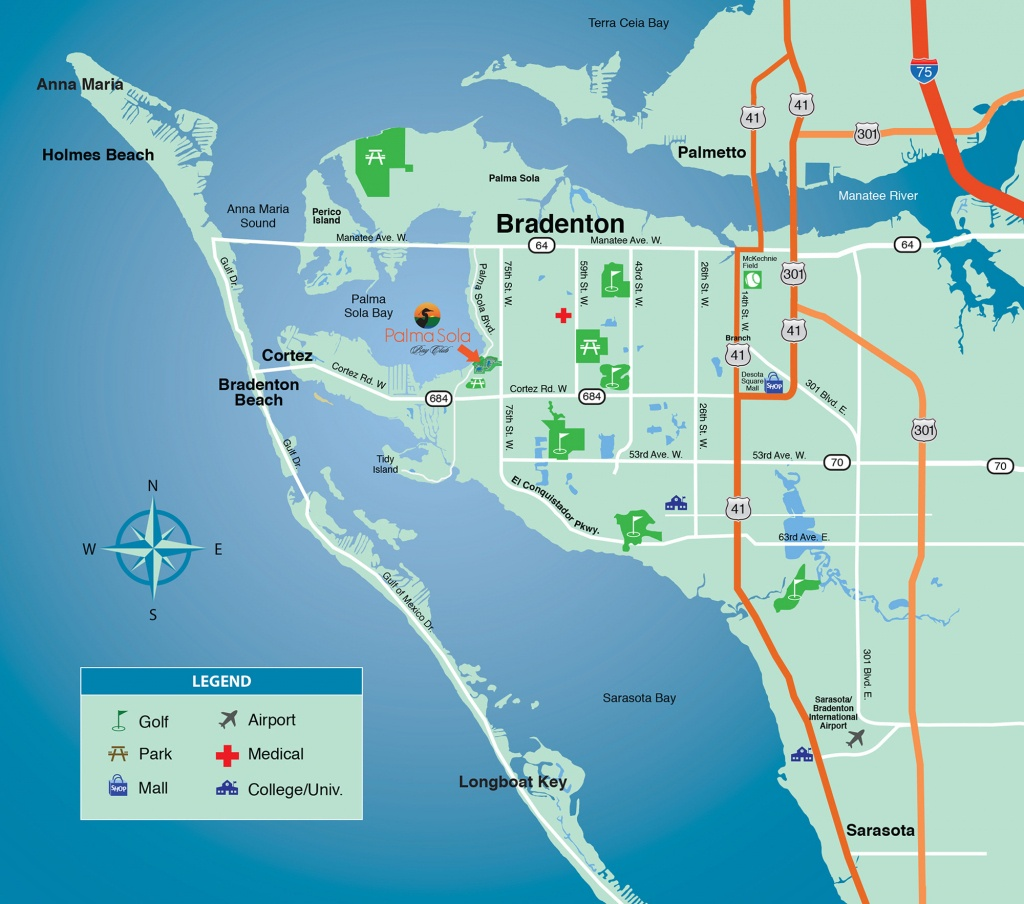 Location & Area Map - New Condominiums For Sale In Bradenton - Where Is Sarasota Florida On The Map