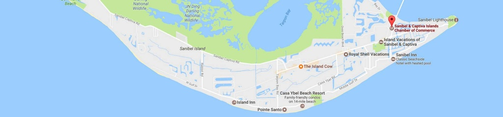 Location & Directions - Sanibel Captiva Chamber Of Commerce - Sanibel Island Florida Map