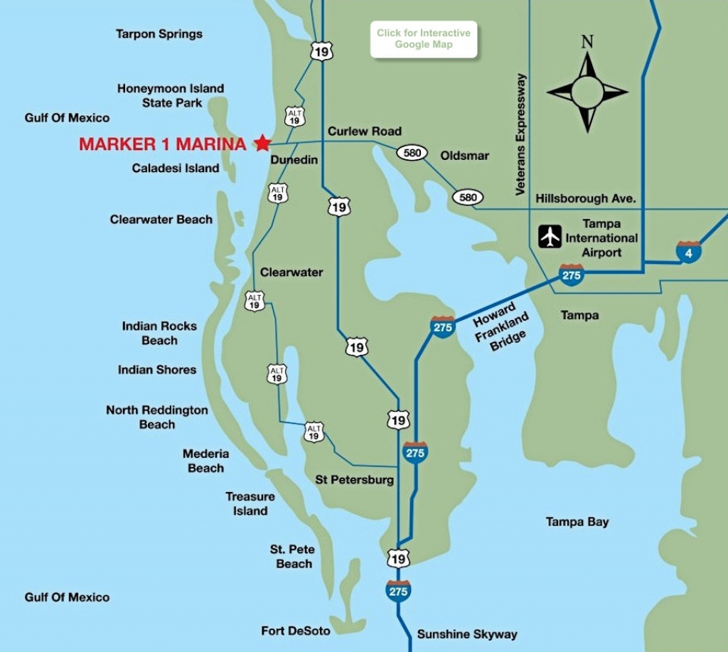 Location Map - Marker 1 Marina - Google Maps Dunedin Florida