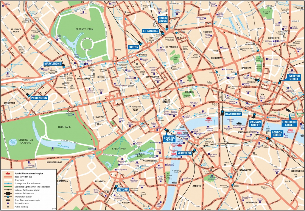 London Attractions Map Pdf - Free Printable Tourist Map London - Central London Map Printable