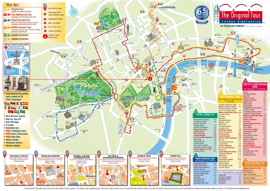 London Attractions Map Pdf - Free Printable Tourist Map London - London Tourist Map Printable