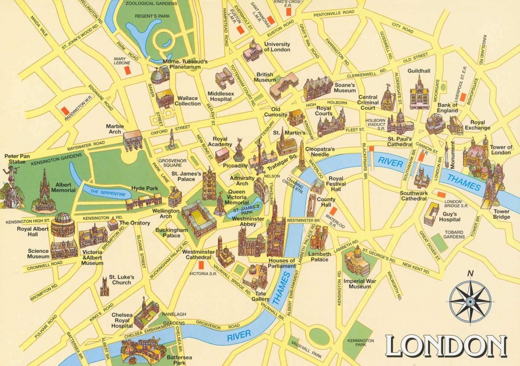 London Attractions Map Pdf - Free Printable Tourist Map London - Printable Street Map Of London