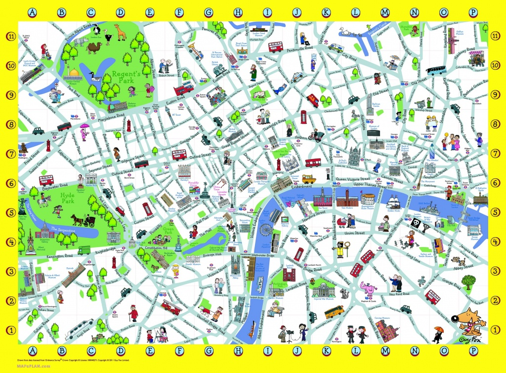 London Detailed Landmark Map | London Maps - Top Tourist Attractions - Printable Travel Maps For Kids