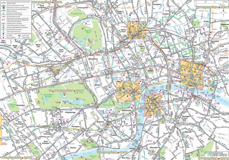 Map Of London Attractions Printable