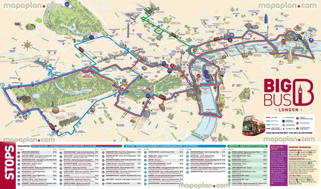 London Maps - Top Tourist Attractions - Free, Printable City Street - Map Of London Attractions Printable