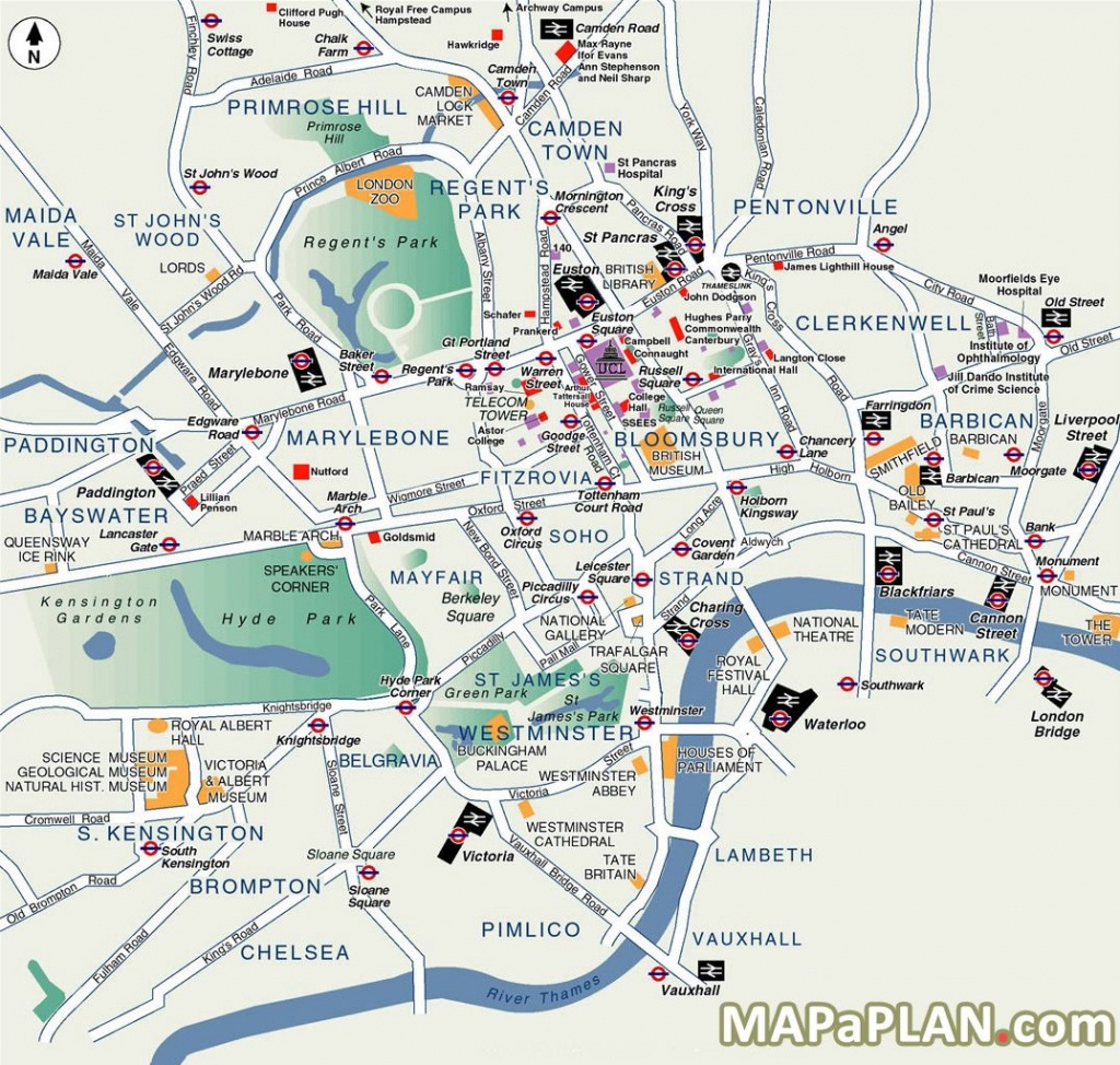 London Top Tourist Attractions Map Popular Destination Spots - London Tourist Map Printable