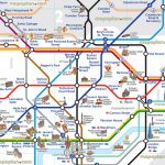 London Tube Attractions Underground Stations Plan Main Points In - Map Of London Attractions Printable