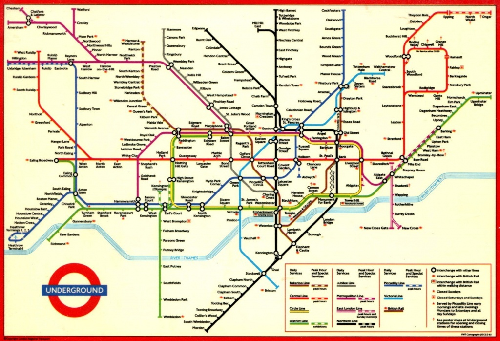London Underground Map And Printable - Capitalsource - Printable London Tube Map