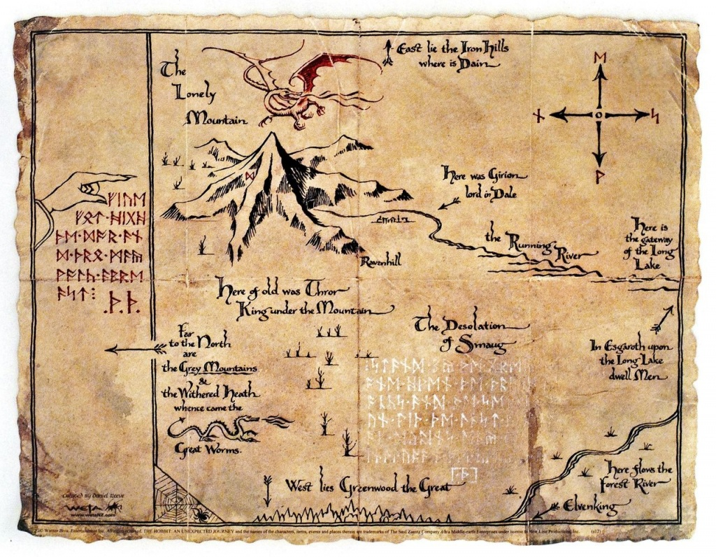 Lonely Mountain Map | Chosen: Bilbo And Frodo | Tolkien Map, Middle - Thror's Map Printable